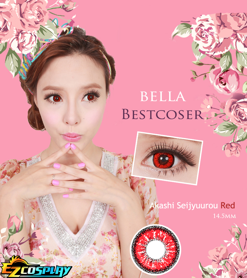Bella Eye Best Coser Kuroko's Basketball Akashi Seijuro Red Cosplay Contact Lense #best