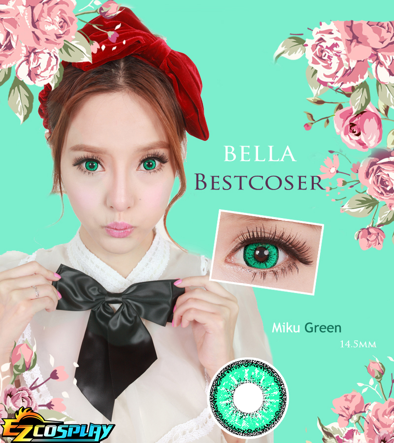Bella Eye Best Coser Vocaloid 2 Hatsune Miku Green Cosplay Contact Lense #best