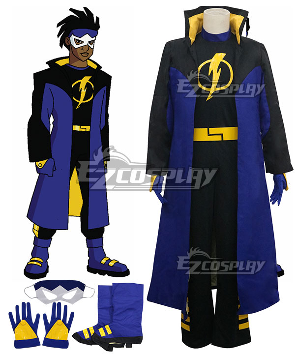 DC Comics Static Shock Virgil Ovid Hawkins Cosplay Costume