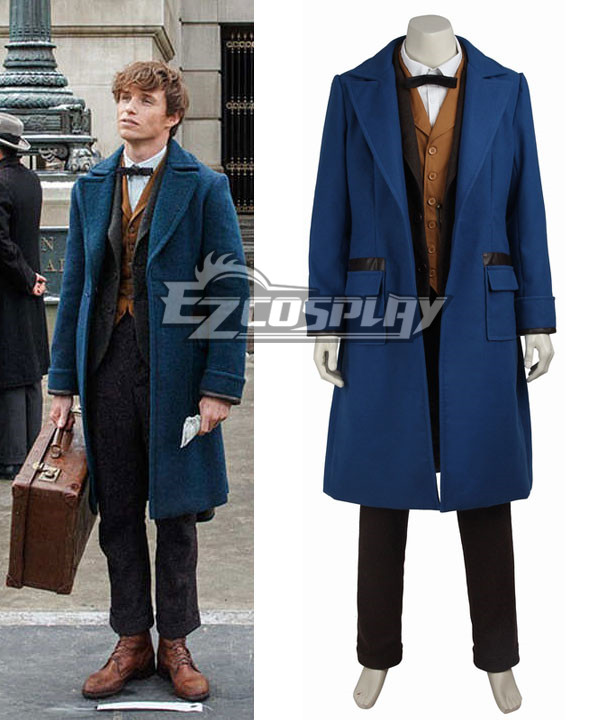 Men's Vintage Style Coats and Jackets Fantastic Beasts and Where to Find Them Newt Scamander Cosplay Costume $209.99 AT vintagedancer.com
