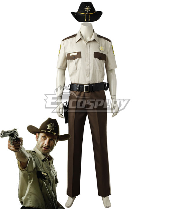 Image of The Walking Dead Season 1 Rick Grimes Cosplay Costume