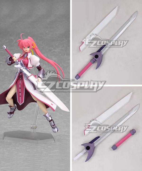 Magical Girl Lyrical Nanoha Signum Flames Maken Sword Cosplay Weapon Prop