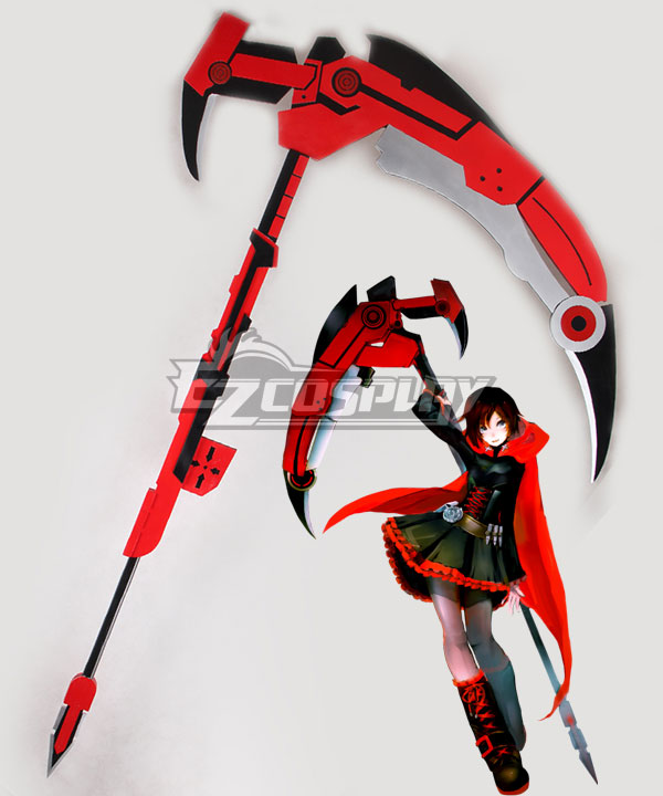 RWBY Leader of Team RWBY Ruby Rose High Caliber Sniper Scythe HCSS Crescent Rose B Cosplay Weapon Prop