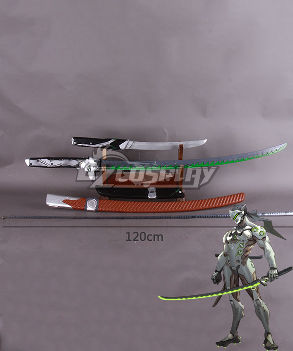 Overwatch OW Genji Shimada Long sword Short sword Darts Cosplay Weapon Prop - Including the scabbard