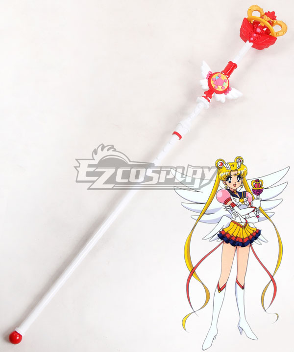 Sailor Moon Sailor Moon Usagi Tsukino Princess Serenity Staves Cosplay Weapon Prop