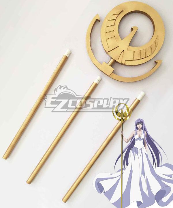 Saint Seiya Knights of the Zodiac Athena Staff Cosplay Weapon Prop