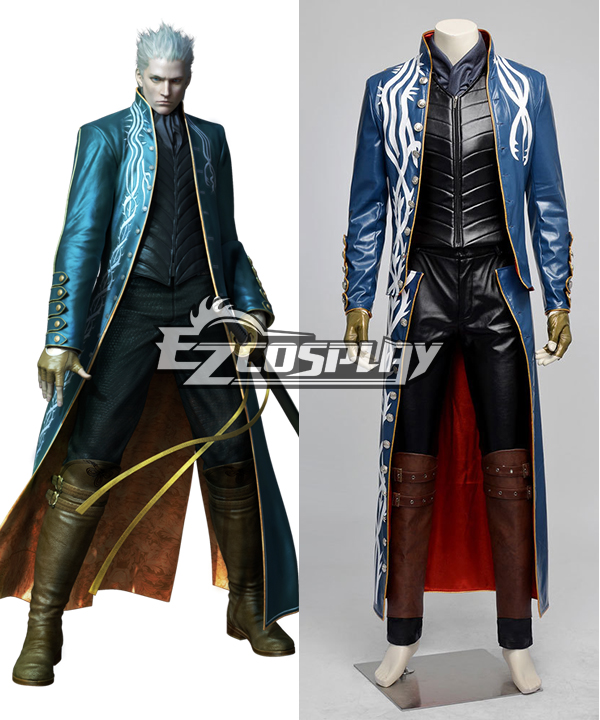 Devil May Cry III 3 Vergil Full Set  Cosplay Costume