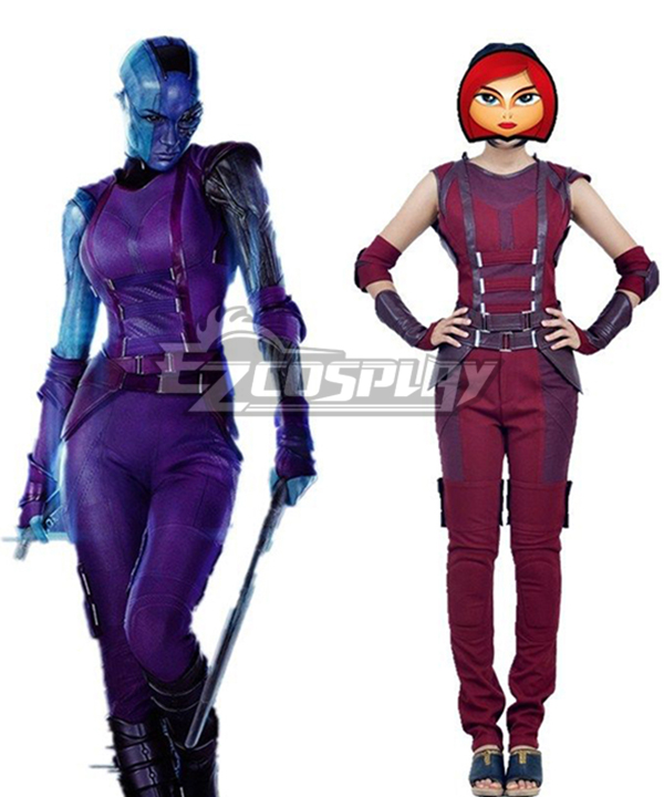 Marvel Comics Guardians of the Galaxy Nebula Cosplay Costume