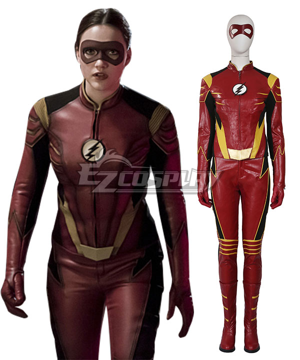 DC The Flash 3 Female Speedster Jesse Quick Cosplay Costume - Including Boots