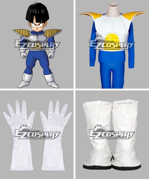 Dragon Ball Kid Gohan Saiyan Armor Uniform Halloween Cosplay Costume