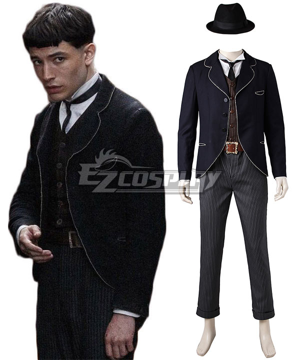 Victorian Mens Suits & Coats Fantastic Beasts and Where to Find Them Credence Barebone Cosplay Costume $235.99 AT vintagedancer.com