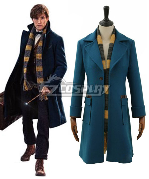 1920s Mens Coats & Jackets History Fantastic Beasts and Where to Find Them Newt Scamander Cosplay Costume - Only Coat $91.99 AT vintagedancer.com