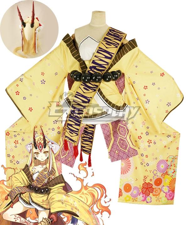 Fate Grand Order Berserker Ibaraki Douji Kimono Cosplay Costume - No Wig