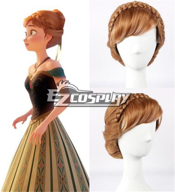 Frozen Princess Snow Queen Anna Updo Briaid Coronation Style Disney Cosplay Wig -336C