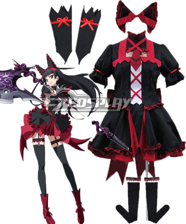 Gate Jieitai Kanochi nite Kaku Tatakaeri Gate Thus the JSDF Fought There Rory Mercury Cosplay Costume