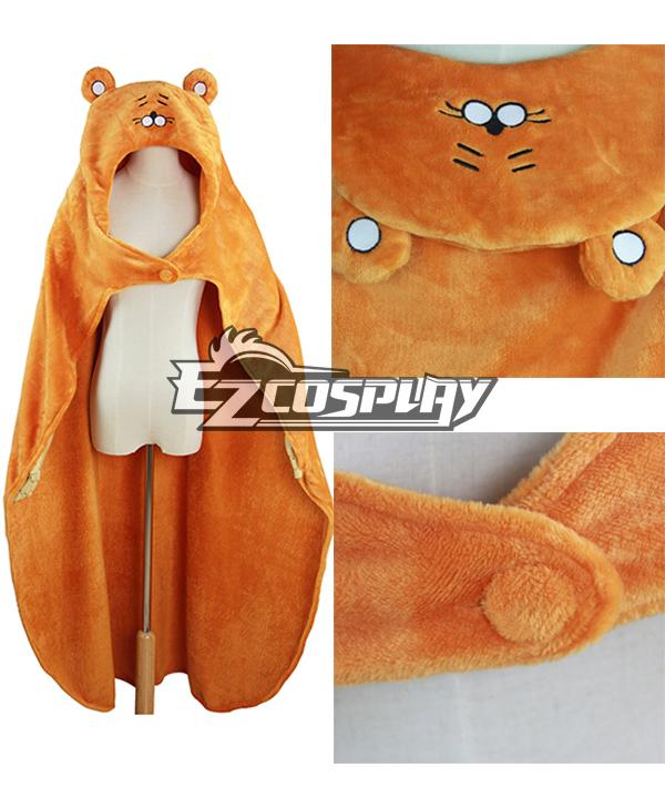 Himouto! Umaru-chan Umaru Doma Orange Cloak Hooded Fleece Blanket Cosplay Costume