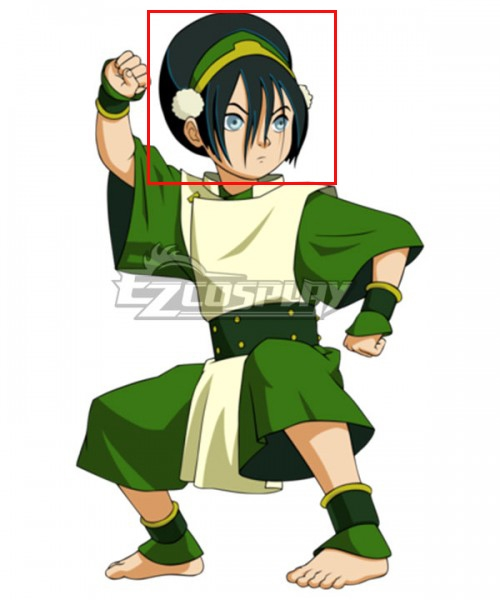 Avatar The Last Airbender Toph Beifong Black Cosplay Wig