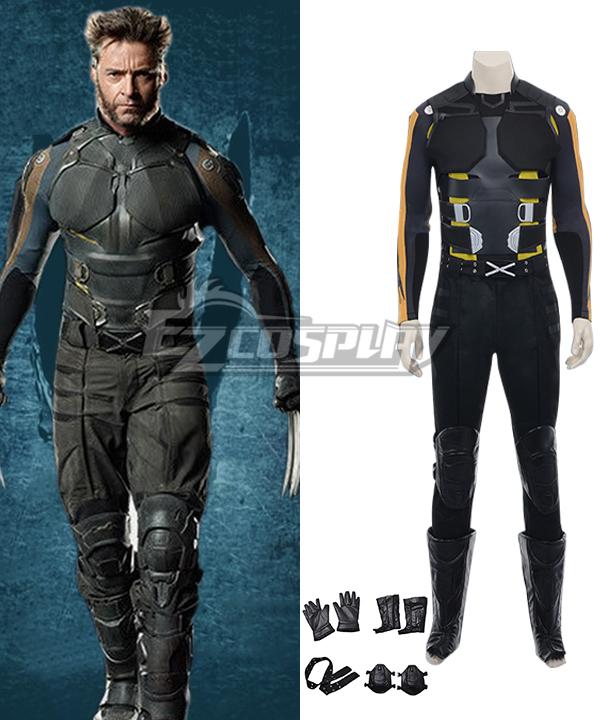 Marvel X-Men: Days of Future Past Wolverine Movie Battle Suit Cosplay Costume
