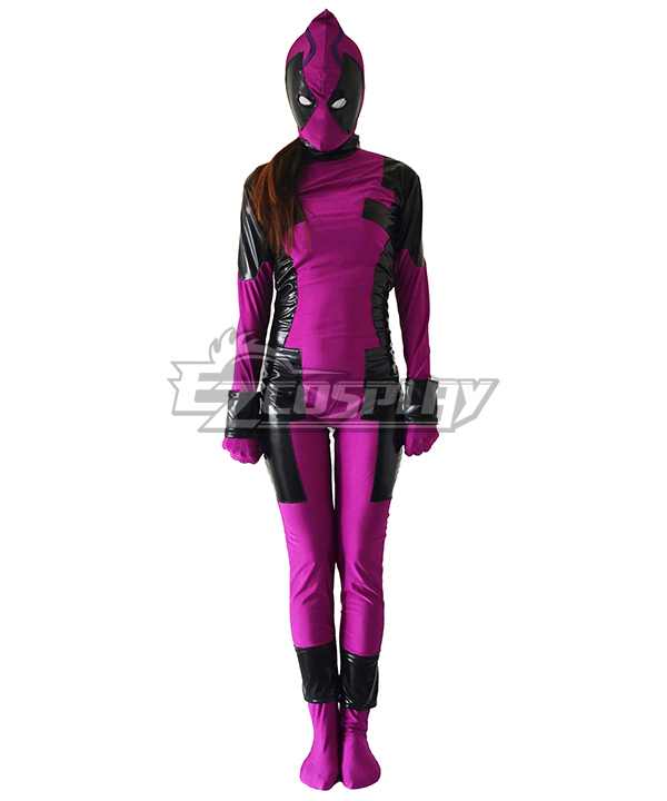 Marvel Female Deadpool Grape Zentai Cosplay Costume
