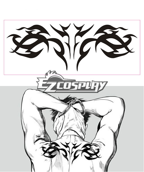 Gangsta Gyangusuta  Worick Arcangelo Tattoo Cosplay Accessory