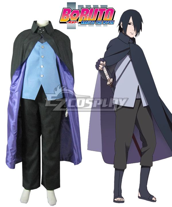 Boruto Naruto the Movie Uchiha Sasuke Blue Cosplay Costume