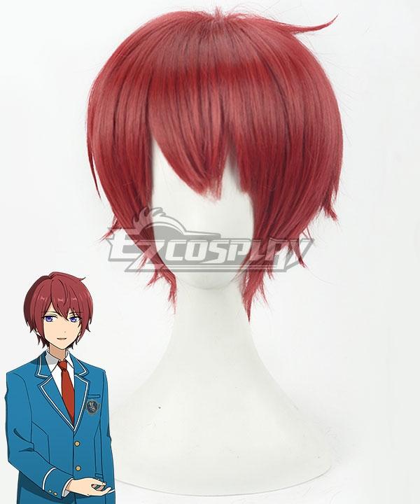 Ensemble Stars Knights Suou Tsukasa Red Cosplay Wig