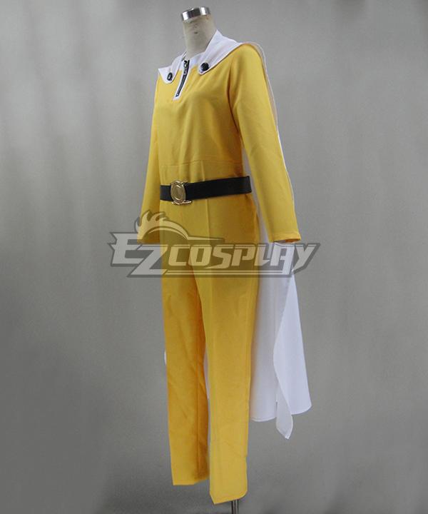 One Punch Man Saitama Caped Baldy Hagemanto Cosplay Costume - Cape, Belt, Gloves