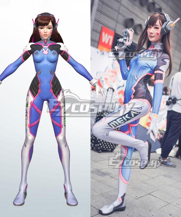 Overwatch OW D.Va DVa Hana Song Jumpsuit Cosplay Costume - Zentai Version