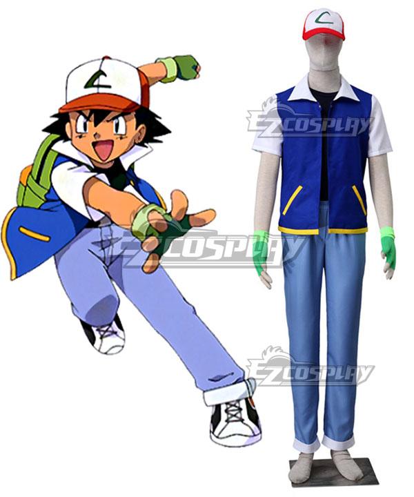 Pok¨¦mon Pokemon Pocket Monster Ash Ketchum Cosplay Costume