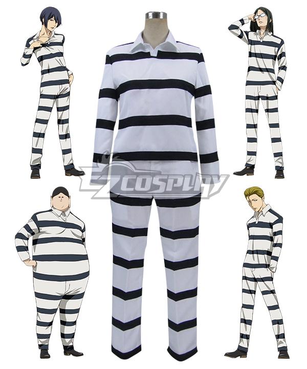 Prison School Purizun Sukuru Kiyoshi Fujino Takehito Morokuzu Shingo Wakamoto Reiji Andou Prison Cosplay Costume