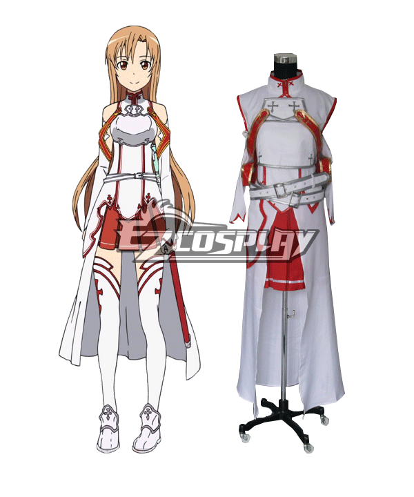 Sword Art Online SAO Sodo Ato Onrain Knights of the Blood Lambent Light Yuuki Asuna Yuki Asuna Asuna Yuki Cosplay Costume