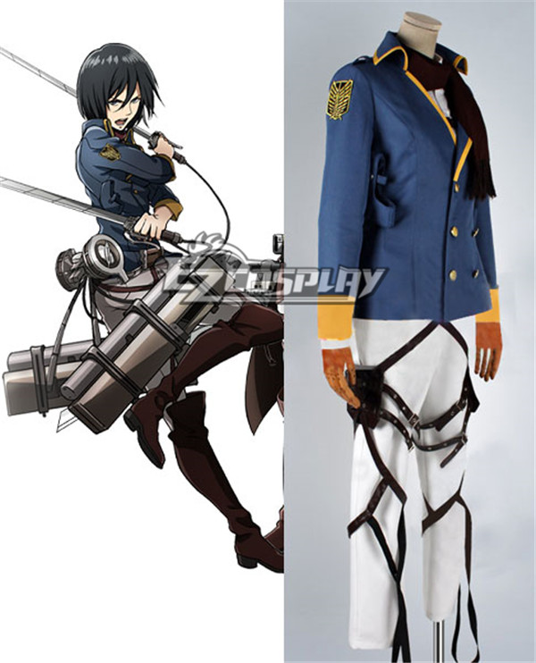 Attack on Titan Shingeki no Kyojin The Recon Corp Wings of Counterattack Online Mikasa Ackerman Cosplay Costume