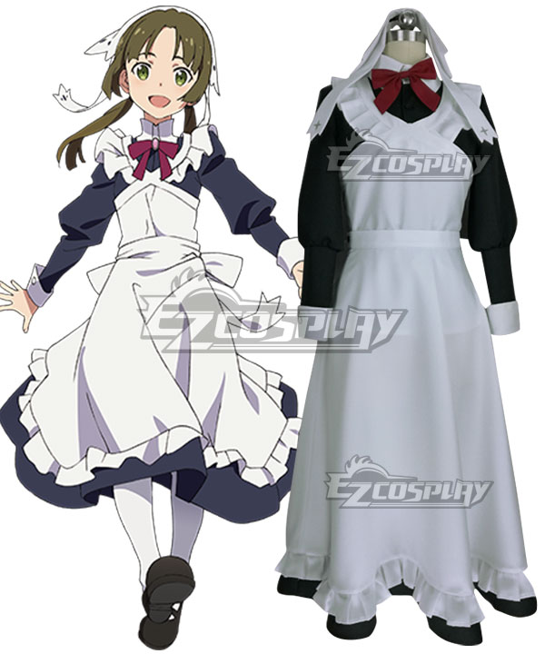 Vintage Aprons, Retro Aprons, Old Fashioned Aprons & Patterns Shumatsu no Izetta Die Letzte Hexe Lotte Cosplay Costume $87.99 AT vintagedancer.com