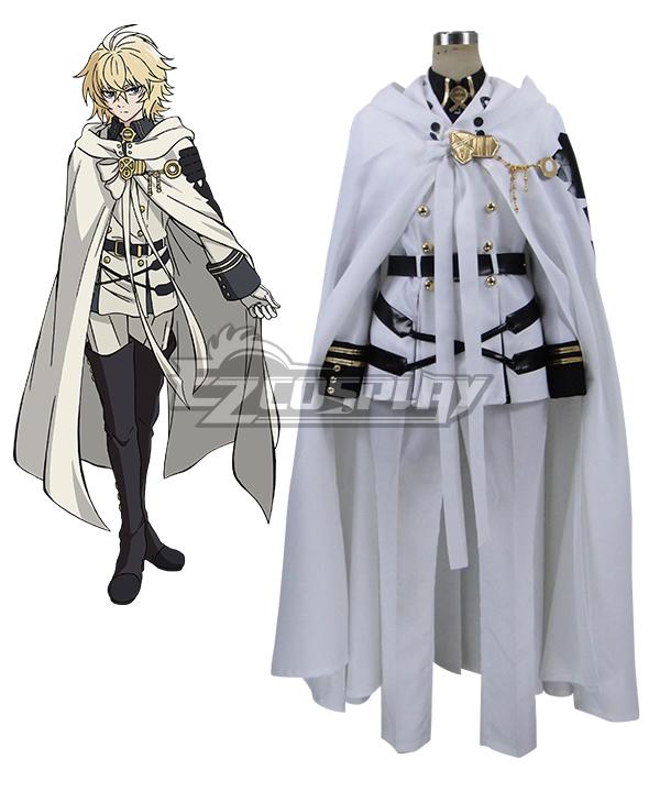 Seraph of the End Vampire Reign Owari no Serafu Mikaela Hyakuya Hyakuya Mikaera Cosplay Costume - Only Coat Belt Cloak