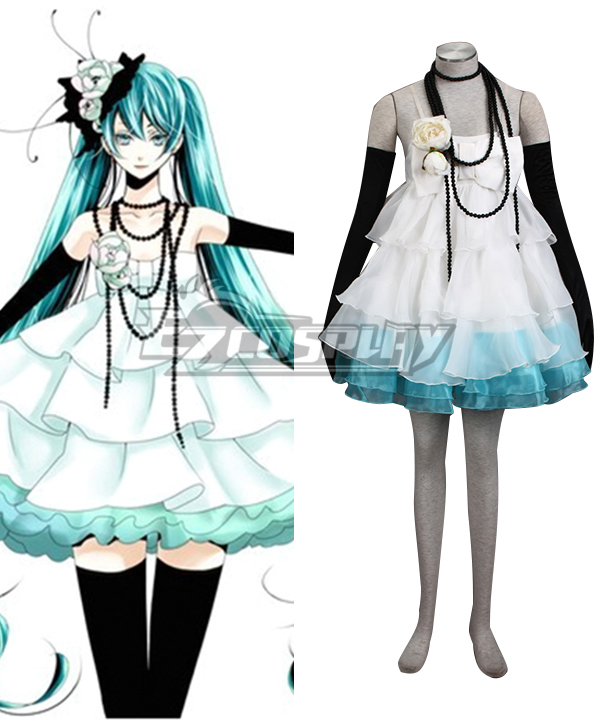 Vocaloid Camellia Hatsune Miku Dress Anime Cosplay Costume
