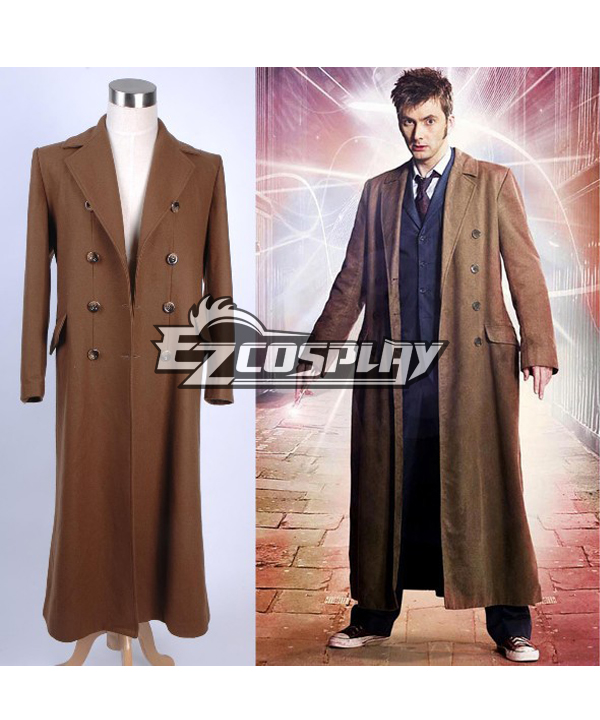 Men's Vintage Style Coats and Jackets Who is Doctor Doctor Who Dr. Brown Long Trench Coat  $129.99 AT vintagedancer.com