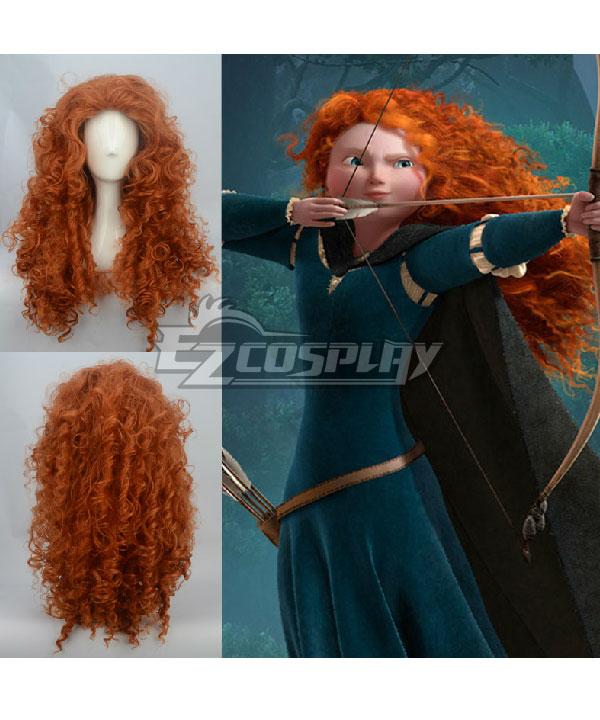 Disney Brave Princess Merida Brown Cosplay Wig