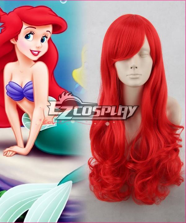 The Little Mermaid / Ariel 65cm Red Culy Cosplay Wig Hair
