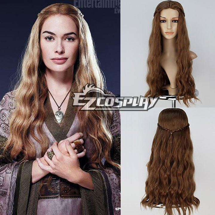 Game of Thrones Daenerys Light Blonde Curly Cosplay Wig Kanekalon Hair no lace Fiber All wigs