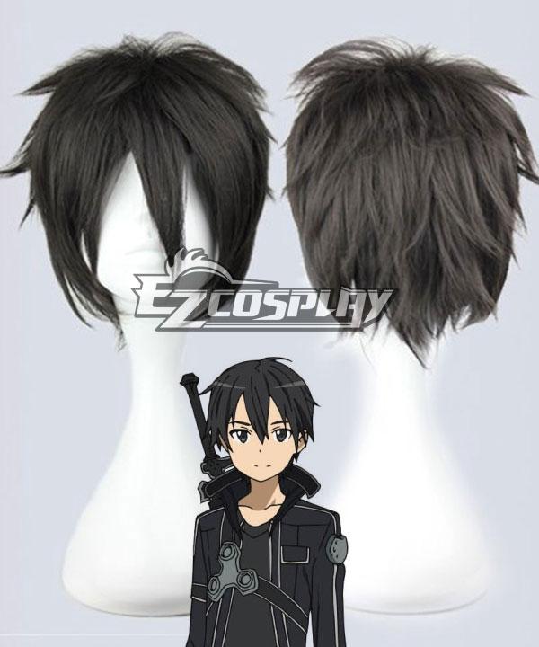 Sword Art Online SAO Sodo Ato Onrain Kirigaya Kazuto Kirito Short Black Cosplay Wig