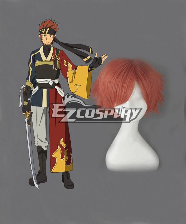 Sword Art Online II SAO Fuurinkazan Furinkazan Tsuboi Ryoutarou Tsuboi Ryotaro Klein Extra Edition Short Brown Cosplay Wig