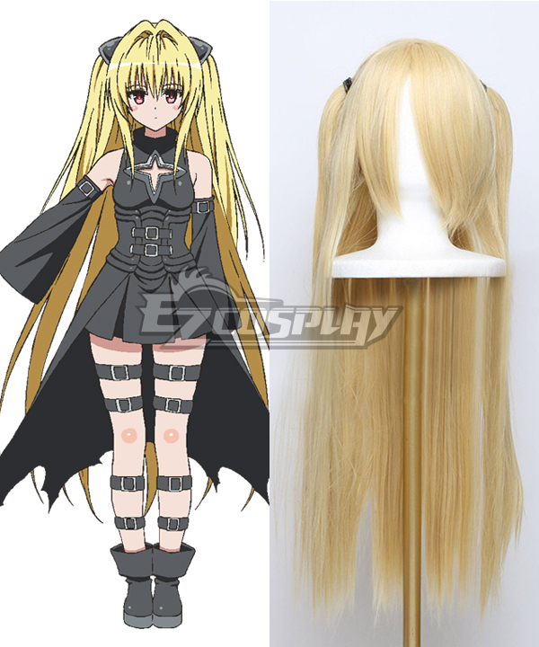To Love Ru Trouble Darkness 2nd Konjiki no Yami Golden Cosplay Wig