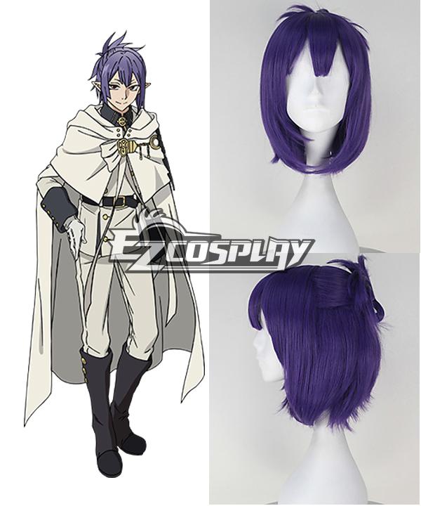 Seraph of the End Owari no Serafu Lacus Welt Short Purple Cosplay Wig