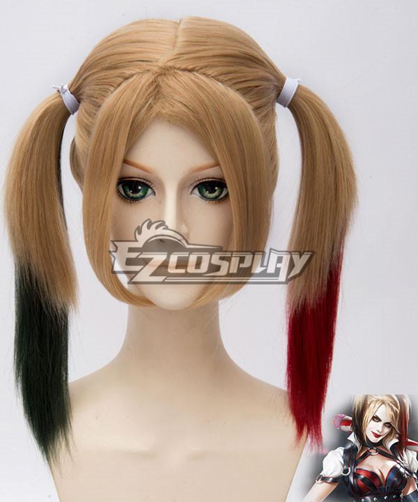 DC Comics Batman Arkham Asylum City Harley Quinn Cosplay Yellow Wig