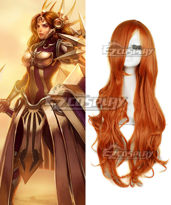 League of Legends Leona The Radiant Dawn Orange Cosplay Wig