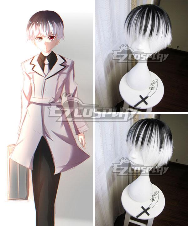 Tokyo Ghoul Tokyo Guru Re Haise Sasaki Ken Kaneki Black white Cosplay Wig