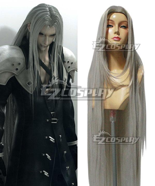 Final Fantasy VII FF7 Sephiroth Silver Cosplay Wig