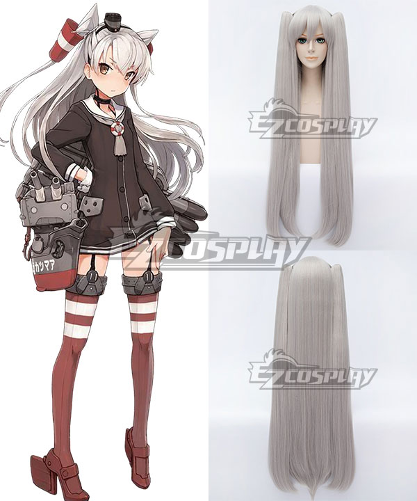 Kantai Collection KanColle Destroyer Amatsukaze Silver Gray Cosplay Wig