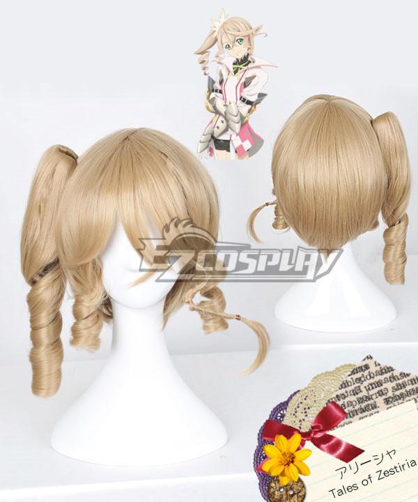 Tales of Zestiria the X Alisha Gold Cosplay Wig