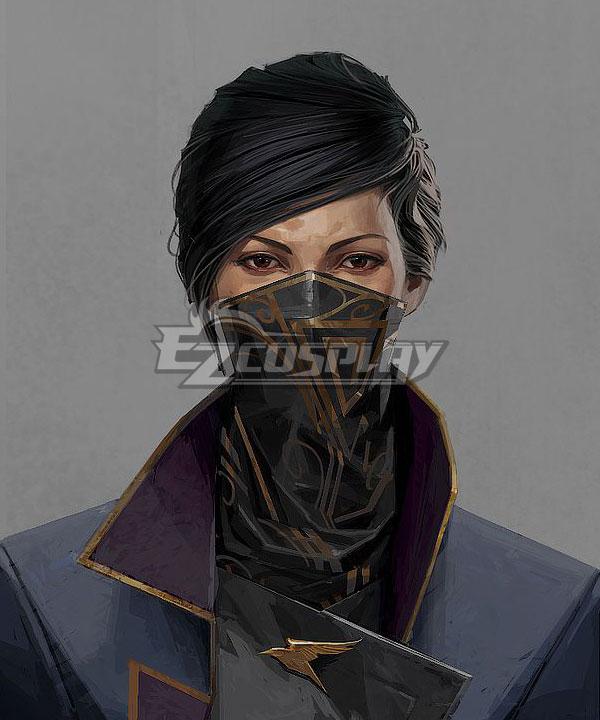 Dishonored 2 Emily Kaldwin Black Cosplay Wig